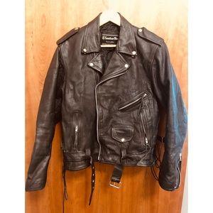 Other - VINTAGE Gen 30 yr old black leather biker jacket